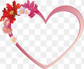Valentine's Day Gorgeous Flowers Background - Love Clip Art PNG