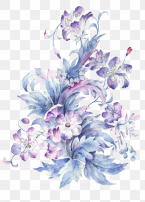 Small Fresh Hand-painted Watercolor Flower - Watercolor Painting Drawing PNG