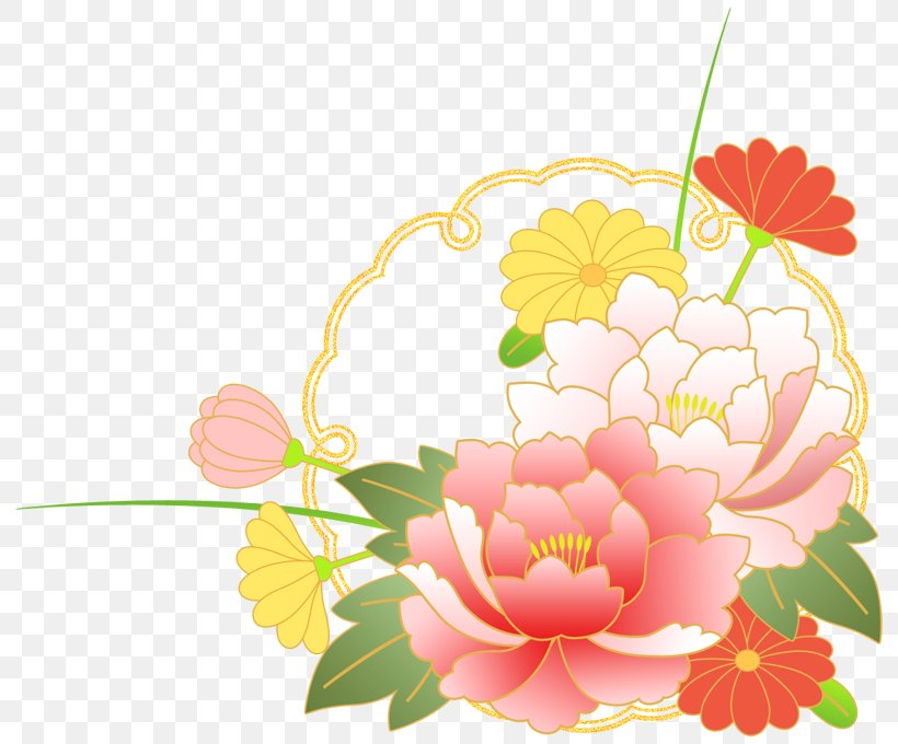 Floral Design Illustration Flower Bouquet New Year Card, PNG, 800x680px, Floral Design, Art, Bon Festival, Cut Flowers, Dahlia Download Free