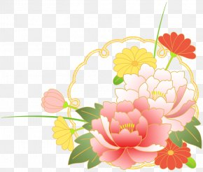 Plant Flowers Material - Floral Design Illustration Flower Bouquet New Year Card PNG