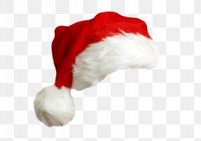 Red Christmas Hat - Santa Claus Mrs. Claus Hat Christmas PNG
