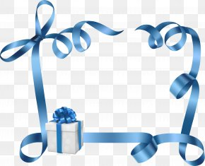 Satin - Gift Blue Stock Photography PNG