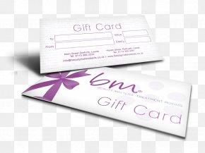 Wedding Card Mock Up - Gift Card Voucher Beauty Matters Rothwell Brand PNG