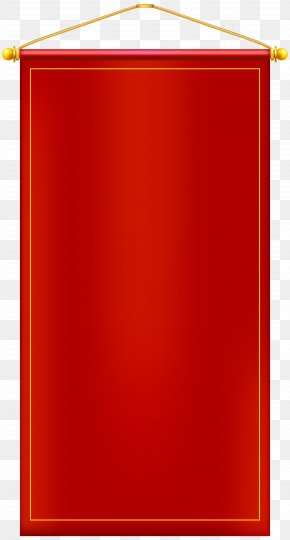 Vertical Red Banner Clip Art Image - Image File Formats Lossless Compression PNG