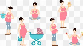 Pregnant Mother With Children - Mother Woman Clip Art PNG