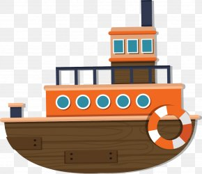 Cartoon Ship - Ship Watercraft Cartoon PNG