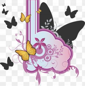Vector Butterfly Pattern - Butterfly Euclidean Vector Vecteur PNG