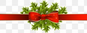 Christmas Decoration - Christmas Decoration Ribbon Clip Art PNG