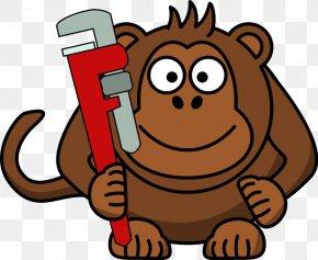 Cartoon Owl Face - Ape Gorilla Monkey Cartoon PNG