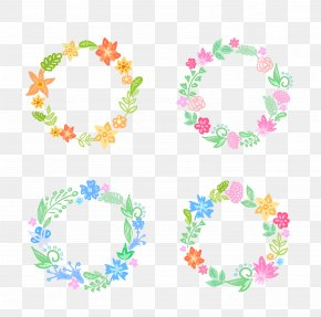 Vector Wreath Material - Flower Wreath PNG