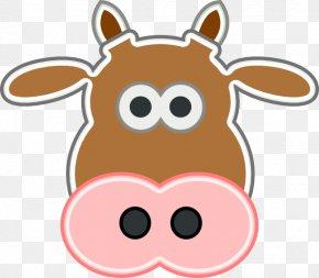 Calf Face Cliparts - Texas Longhorn Angus Cattle Calf Clip Art PNG