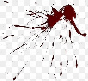 Blood Splatter Clipart Image - Brush Drawing Paint Splatter Film Clip Art PNG