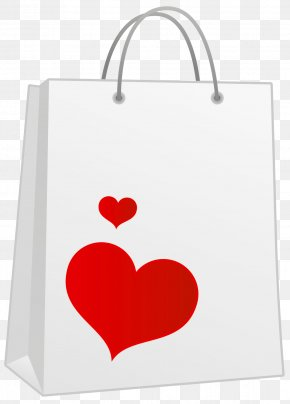 Valentine Red Heart Bag Clipart - Shopping Bag Icon Paper Bag PNG