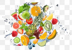 Fruit Water Splash Clipart - Fruit Wallpaper PNG