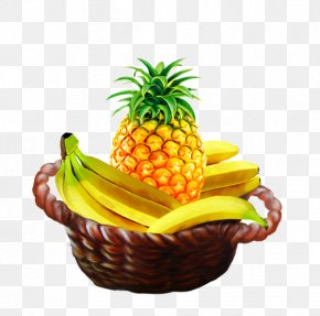 Pineapple - Pineapple Banana Fruit Food Gift Baskets Vegetarian Cuisine PNG