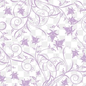 Floating Beautiful Purple Flowers Shading - Euclidean Vector Floral Design PNG