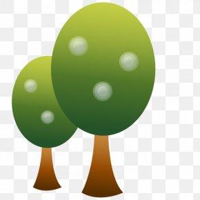 Simple Flat Tree - Flat Design PNG