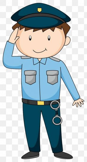 Police Salute - Police Officer Royalty-free Cartoon Illustration PNG