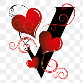 Valentine Typography - Valentine's Day Gift Heart 14 February Holiday PNG