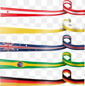 Vector Hand Painted Flag Ribbon - Flag Of Germany Ribbon Illustration PNG