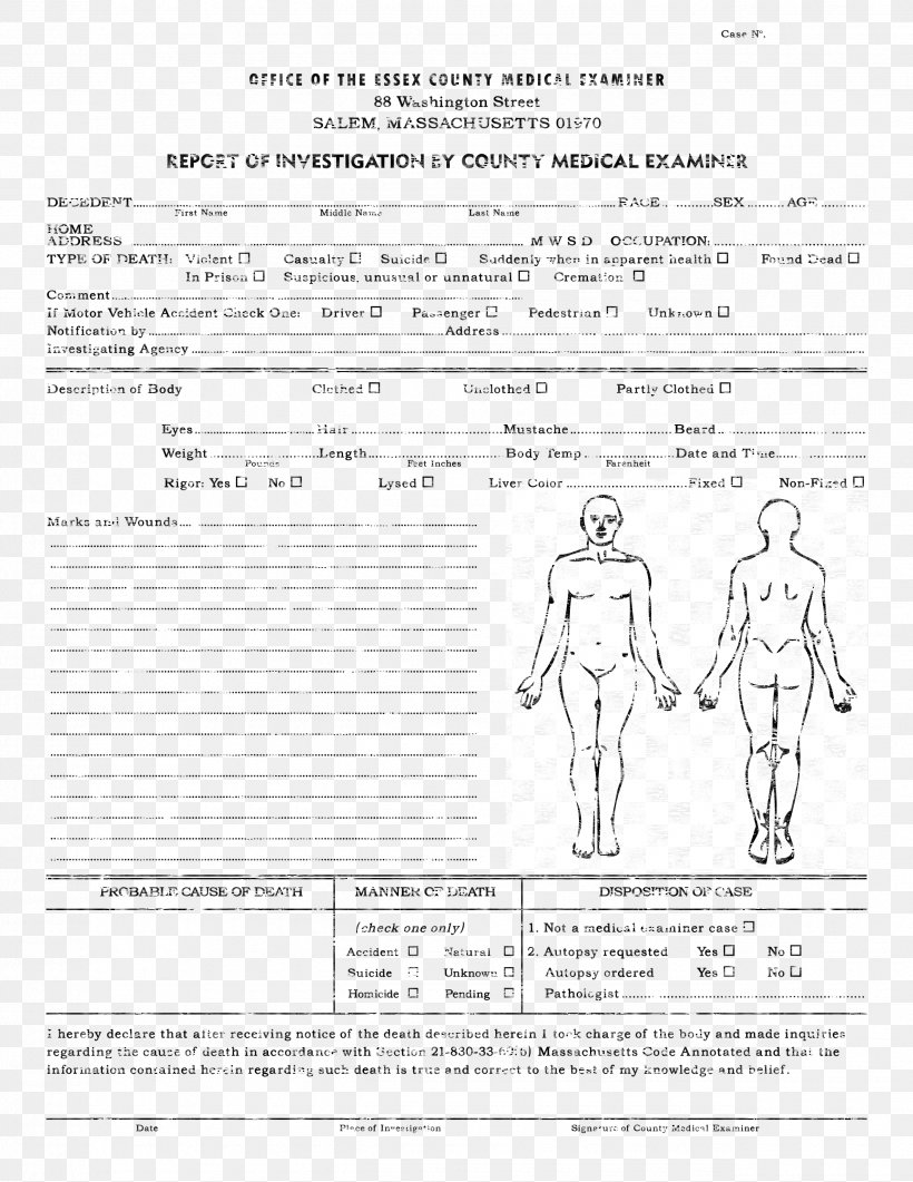 Template Autopsy Microsoft Word Report R Sum PNG