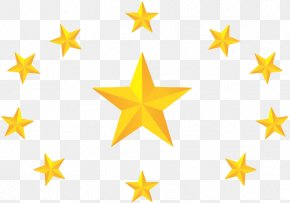 Surrounded By Gold Stars - Textile Star Material PNG