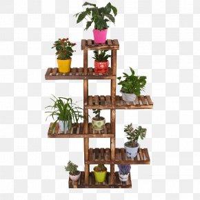 Flower Pot - Flowerpot Shelf PNG