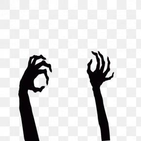 Halloween Ghost Two Hands - Halloween Ghost PNG