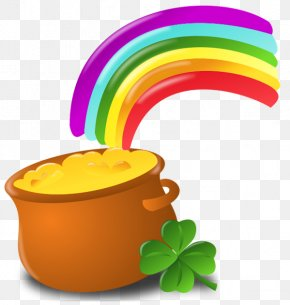 St Patrick Pot Of Gold With Rainbow PNG Picture - Saint Patrick's Day Ireland Shamrock Leprechaun Clip Art PNG