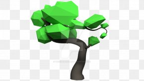 Low Poly - Low Poly Tree Bonsai Rendering Blender PNG