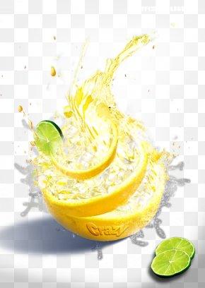 Explosion Lemon - Orange Juice Lemonade Cocktail Garnish PNG