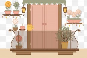 Vector Illustration Balcony - Balcony Euclidean Vector Illustration PNG