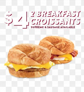 Croissant - Breakfast Sandwich Hamburger Ham And Cheese Sandwich Cuisine Of The United States PNG
