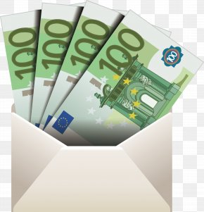 Envelope Element - Cash Euro Banknotes Money PNG