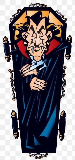 Halloween Vampire In Coffin Clipart - Count Dracula Vampire Clip Art PNG