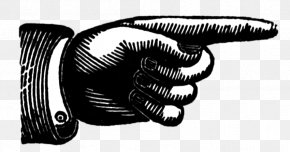 Hand Pointing - Index Finger Clip Art PNG
