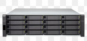 SAS 6Gb/s Serial Attached SCSI QNAP 16 Bay NAS QNAP Systems, Inc.Others - Network Storage Systems QNAP ES1640DC NAS Server PNG