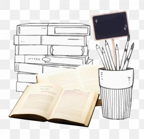 Hand-painted Black And White Pen Modern Books Books - Paper Black And White Pen PNG
