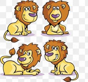 Lion - Lion Cartoon Drawing Clip Art PNG
