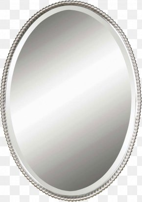 Mirror HD - Mirror Wall Light Silver Oval PNG