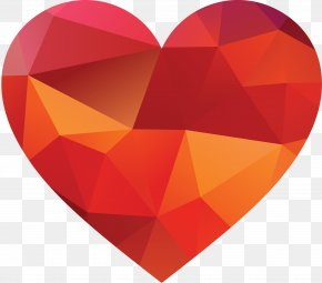 Crystal Heart, Red - Heart PNG