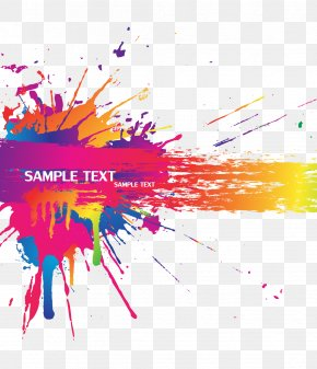 Color Splash Background Vector Material - Color Splash PNG