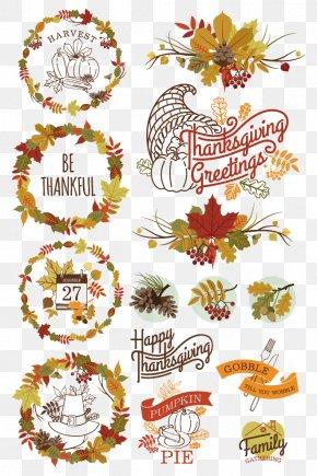 Autumn Leaves Border Pattern - Floral Design Pattern PNG