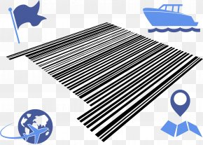 Barcode - Airplane Barcode Scanners 2D-Code PNG