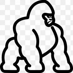 Gorilla Vector - Gorilla Clip Art PNG