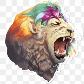 Lion - Lion Roar Drawing Painting PNG