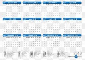 Calendar 2018 - 365-day Calendar ISO Week Date Mukilteo Food Bank Year PNG