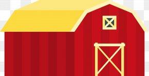 Red Cartoon Barn - Granary Warehouse Barn PNG