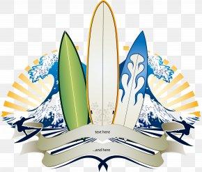 Trend Pattern Vector Wave Skateboard - Big Wave Surfing Banner Surfboard PNG