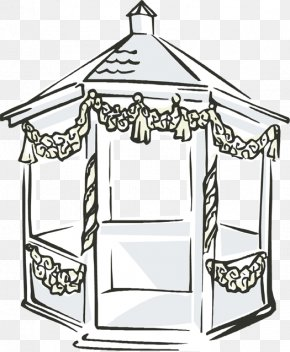 Pavilion Cliparts - Gazebo Wedding Clip Art PNG